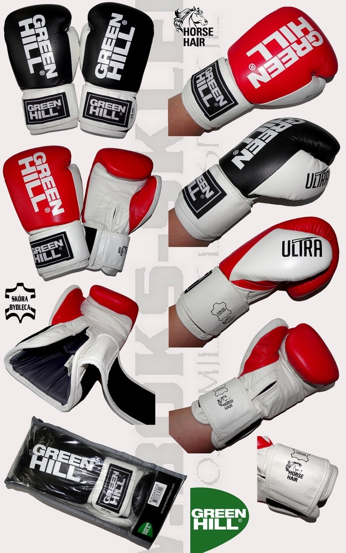 Rękawice bokserskie Green Hill Ultra BGU-2241 skóra naturalna i włosie końskie