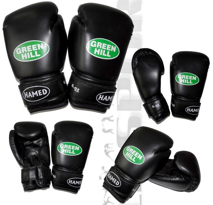 Rękawice bokserskie dziecięce Green Hill Hamed 6oz czarne