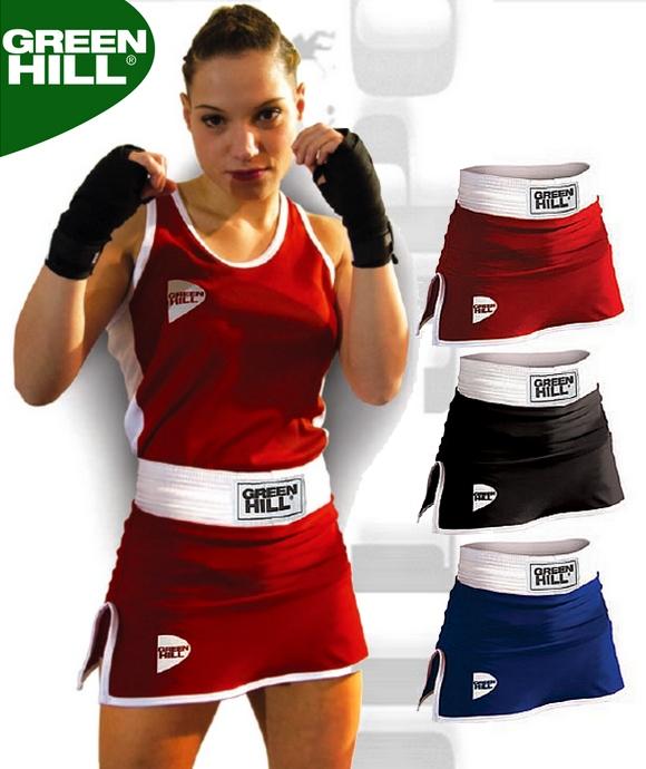 Spódniczka bokserska damska Green Hill Dona czerwona niebieska czarna SBD-3801