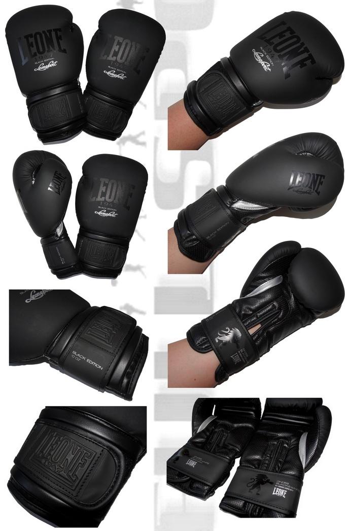 Rękawice bokserskie Black Edition Leone1947 GN-059