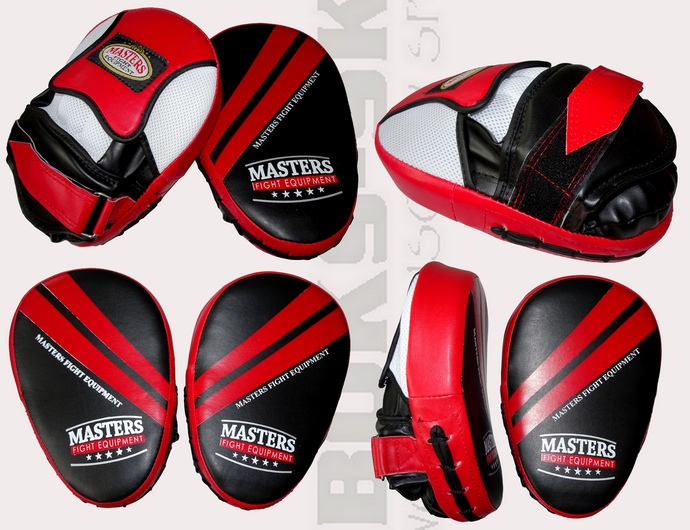 Łapy bokserskie Masters LZ-PU-1 czarno-czerwone