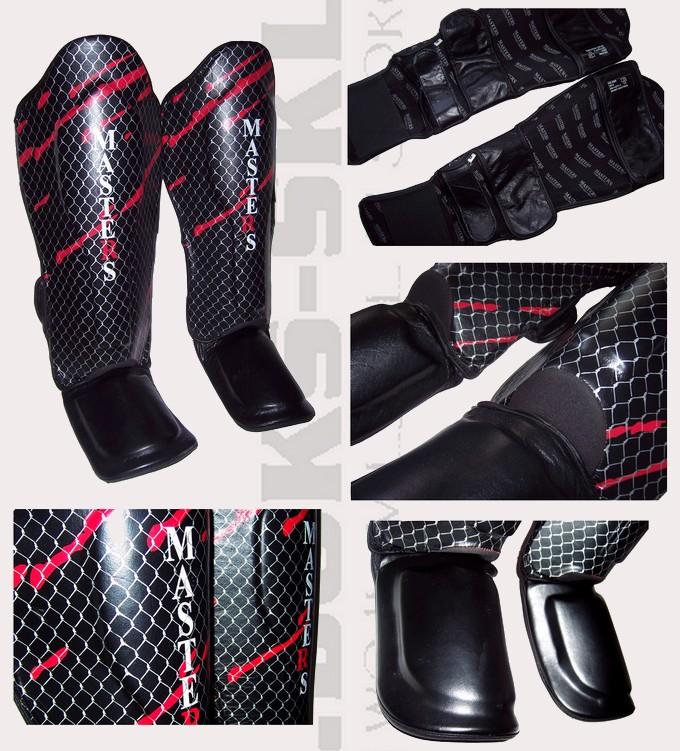 Ochraniacze ze skóry naturalnej goleni i stopy Masters NS-3000, Shin Instep Masters NS3000 leather black