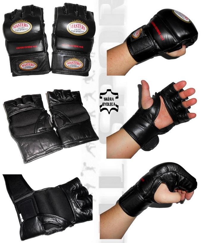 Rękawice skórzane do grapplingu Masters GF5