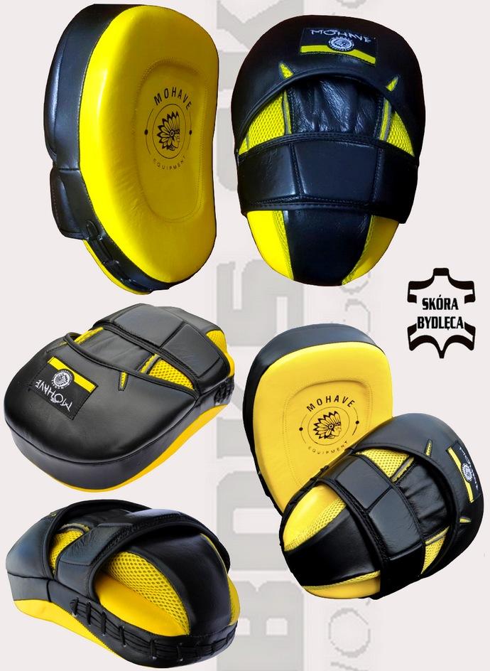 Łapy bokserskie profilowane ze skóy natrualnej Mohave Pro 2