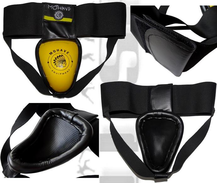 Ochraniacz metalowy krocza tajski Mohave Thai black-yellow