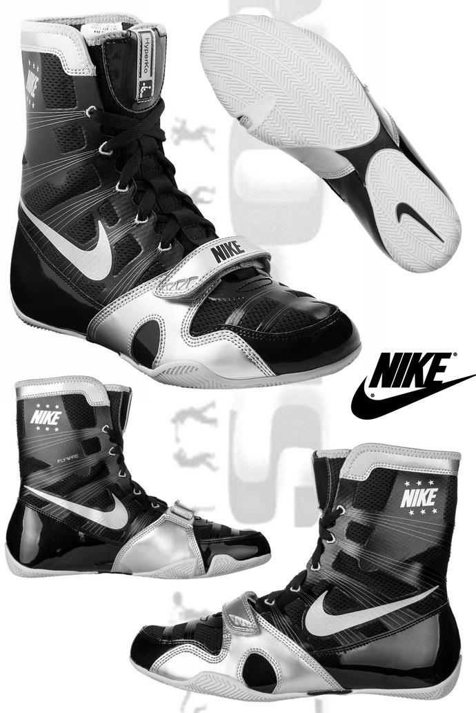 12179d4a0bf5da Buty bokserskie HyperKO Czarno-Srebrne, Boxing Shoes Nike HyperKo  Black-Silver