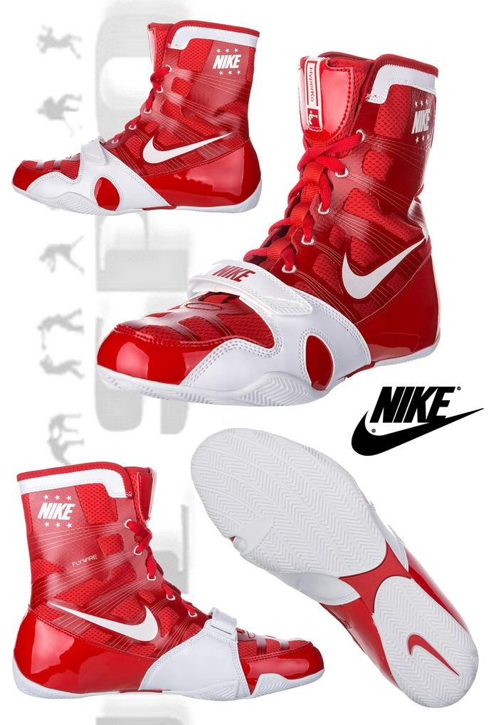 ca92834dfc9d0 Buty bokserskie HyperKO Czerwone-białe, Boxing Shoes Nike HyperKo Red-White