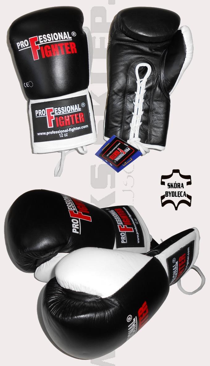 Rękawice bokserskie wiązane Professional Fighter