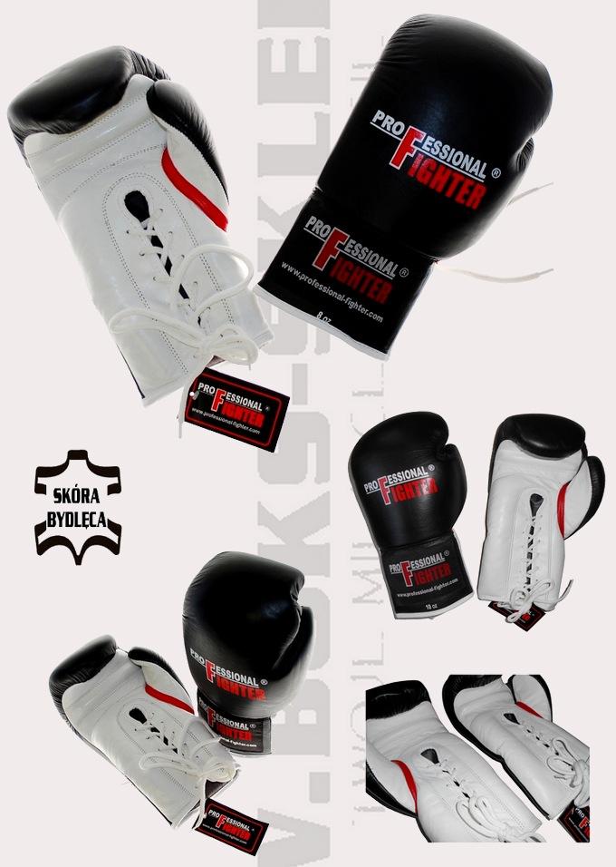 Rękawice bokserskie wiązane Professional Fighter NEVADA