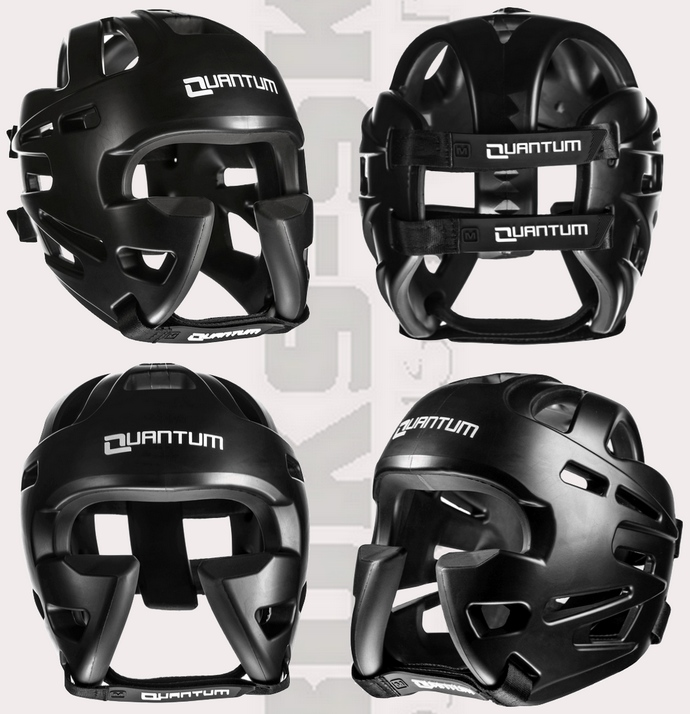 Kask ochronny sparingowy Quantum XTREME Protection Black