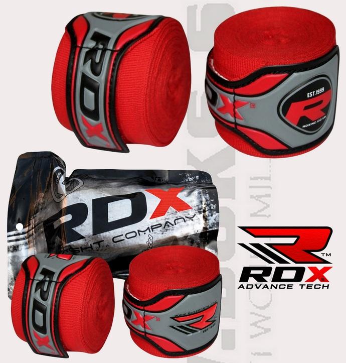 Bandaże bokserskie RDX spandex Red, Hand Warps Spandex 4,55m