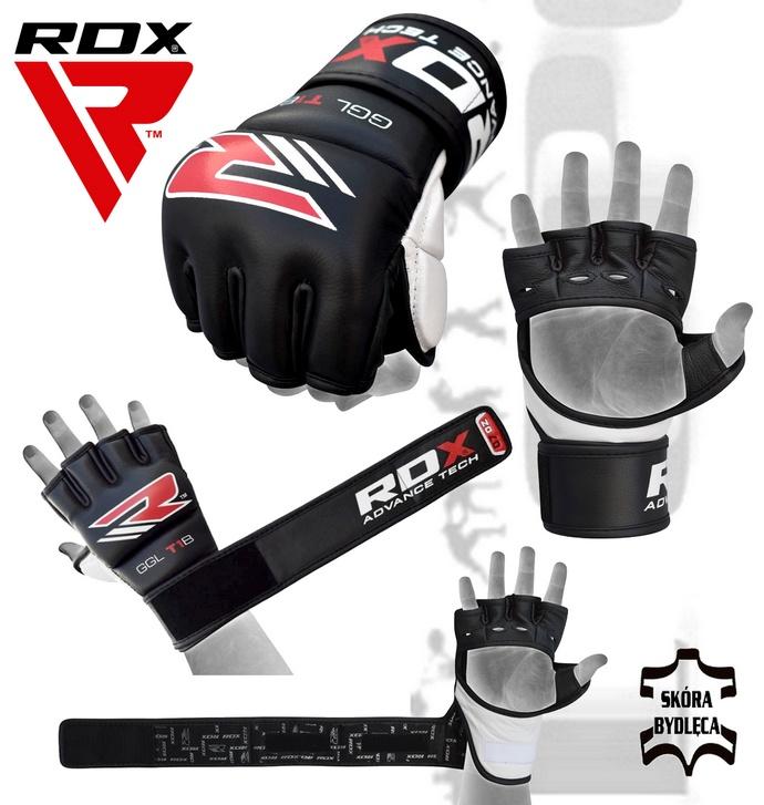 Rękawice mma RDX GGL-T1B skórzane