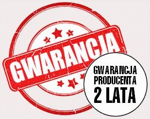 2lata gwarancji producenta na sprzęt