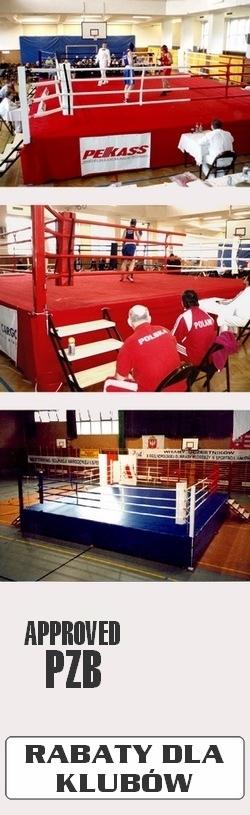 Ring bokserski na podeście z certyfikatem PZB i CE