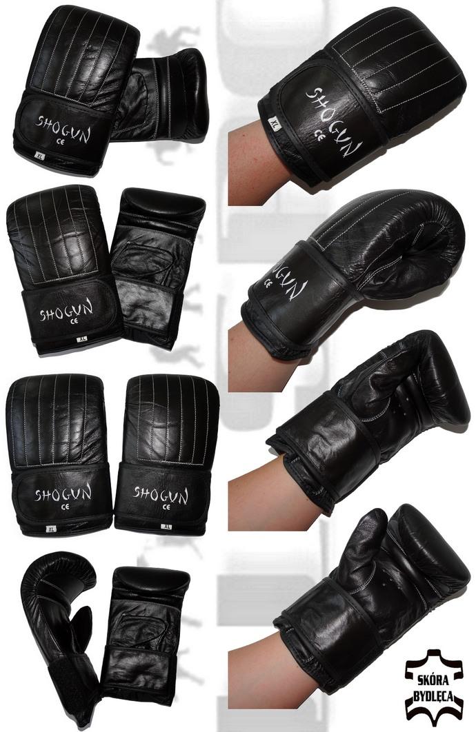 Rękawice przyrządowe na worek Shogun skóra naturalna 6 szwów