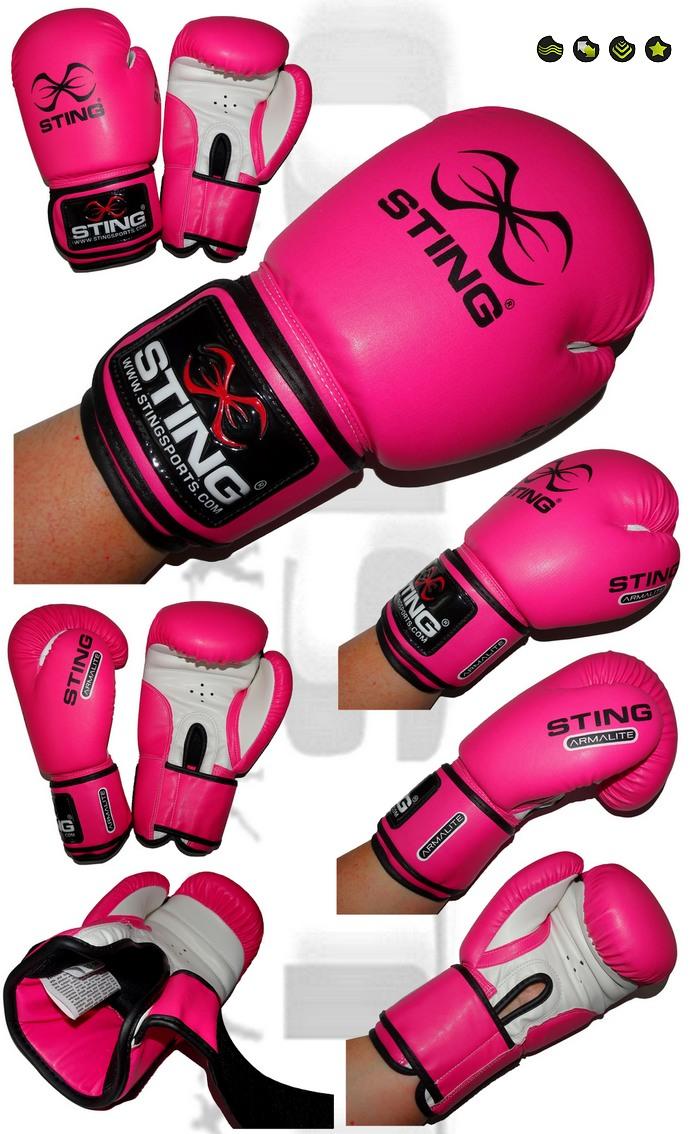 Rękawice bokserskie kobiece różowe Sting ArmaLite SABG-0912. Boxing Gloves Woman rose Sting ARMALITE 10oz