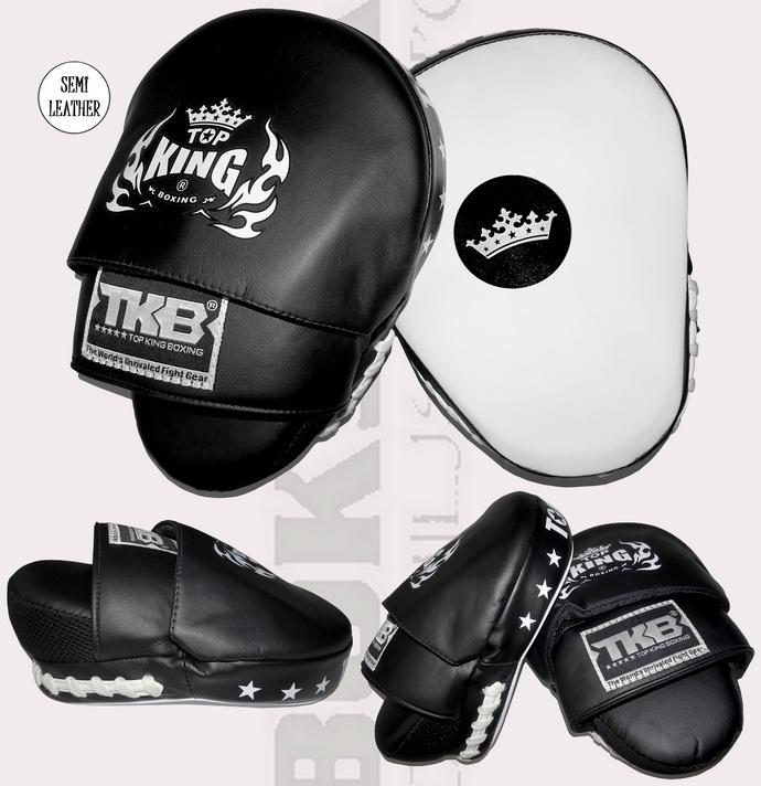 Łapki bokserskie Top King Super Mini Czarno-białe TKFMS