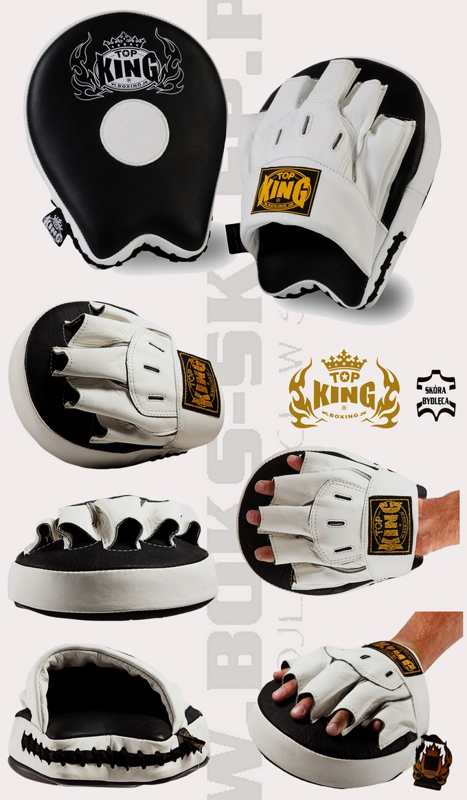 TKFMU Top King Ultimate tarcze trenerskie, Focus Mitts Pads Top King  leather
