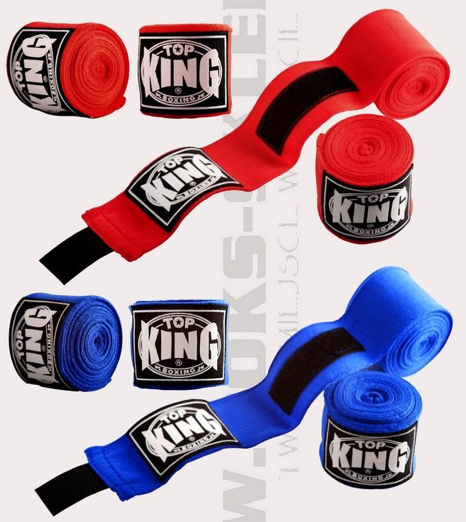 Boxing Bandages Top King TKHWR-01 Bandaże bokserskie niebieskie czerwone