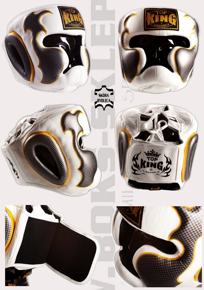 Headgear TOP KING Empower Creativity White