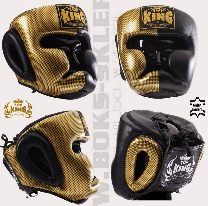 Kask bokserski sparingowy Top King Empower Creativity TKHGEM-02GD Headgear Top King Cerativity Empower Black