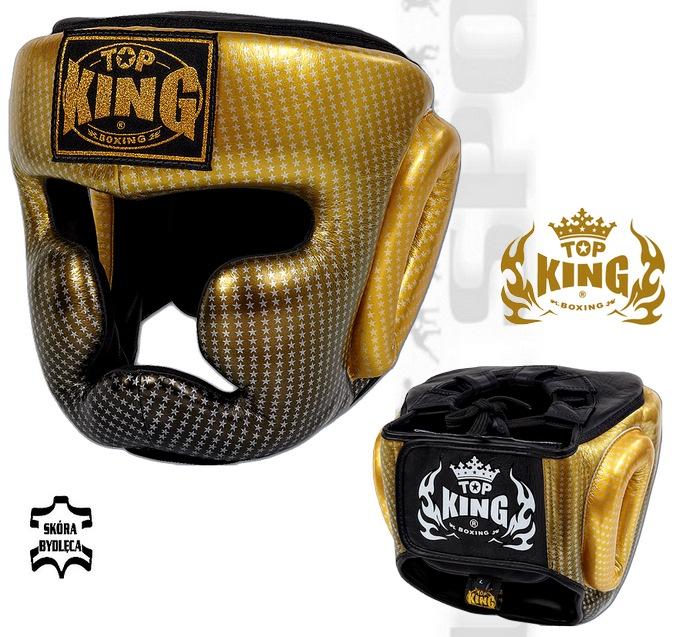 Kask sparingowy Top king Super Star złoty TKHGSS-01GD, Headgear Top King Super Star Gold