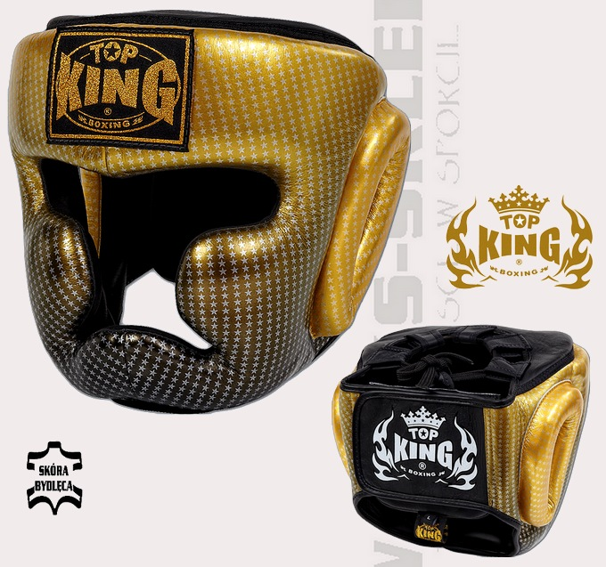 Kask sparingowy Top king Super Star złoty TKHGSS-01GD, Headgear Top King Super Star Gold