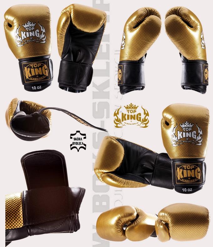 Rękawice bokserskie Top King Empower Gold TKBGEM-02GD, Boxing gloves Top King Empower Gold