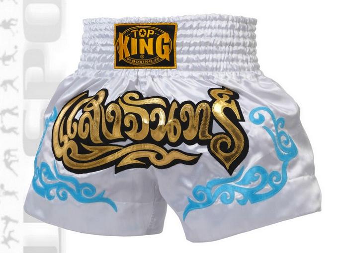 Spodenki Muay-Thai Top King TKTBS-053 model 2014 białe