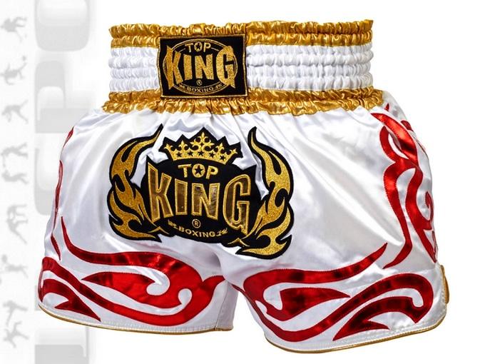 Spodenki do Thai-Boxingu Top King TKTBS-096 biełe white