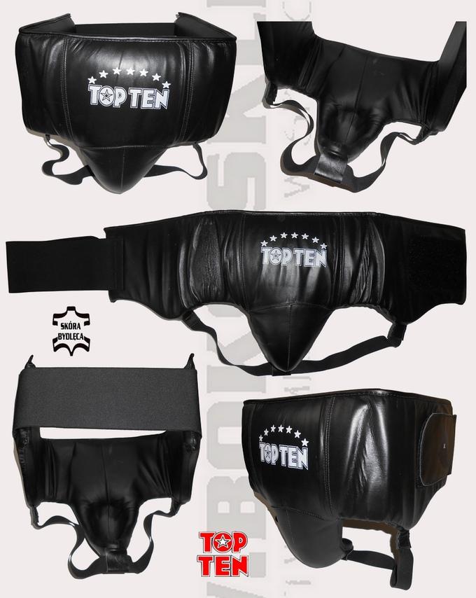 Suspensor bokserski Top Ten 3086 skórzany