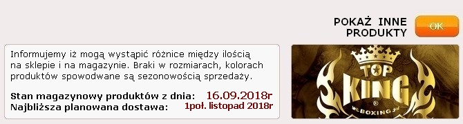 Pokarz inne produkty Top King na BOKS-SKLEP.PL